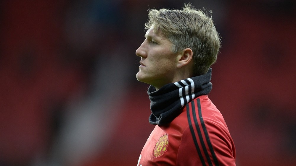 Manchester United's German midfielder Bastian Schweinsteiger warms up before the English Premier League football match between Manchester United and West Ham United at Old Trafford in Manchester, north west England, on December 5, 2015.   / AFP / OLI SCARFF