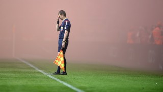 2626772 05/17/2015 A linesman in the Russian Football Premier League's Round 28 match between FC Spartak Moscow and FC CSKA Moscow. Mikhail Voskresenskiy/RIA Novosti