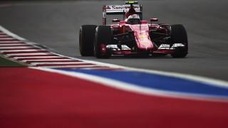 2758816 10/10/2015 Ferrari's driver Kimi Raikkonen during Practice 3 at the Russian stage of Formula One. Cropped image. Vladimir Astapkovich/Sputnik