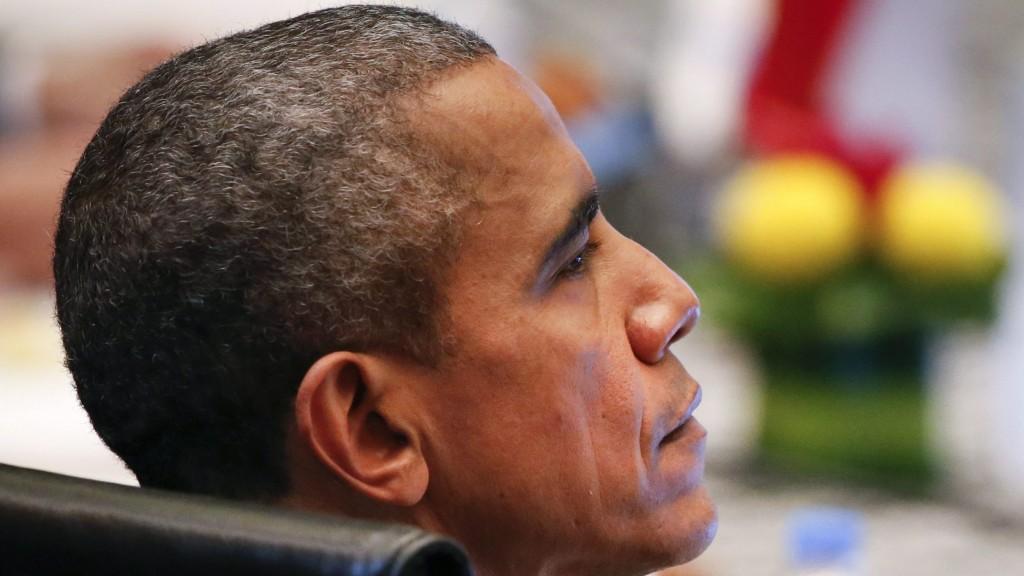 Kuala Lumpur, 2015. november 22. Barack Obama amerikai elnök az ülésteremben a Délkelet-ázsiai Országok Szövetsége (ASEAN) csúcstalálkozójának zárónapján, Kuala Lumpurban 2015. november 22-én. (MTI/AP/Vincent Thian)