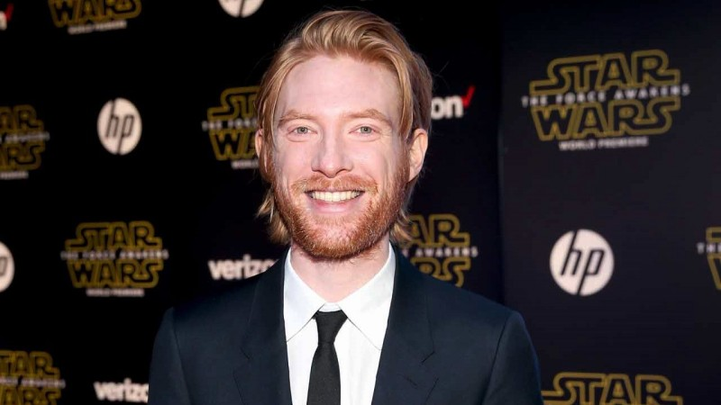HOLLYWOOD, CA - DECEMBER 14:  Actor Domhnall Gleeson attends the World Premiere of ?Star Wars: The Force Awakens? at the Dolby, El Capitan, and TCL Theatres on December 14, 2015 in Hollywood, California.  (Photo by Jesse Grant/Getty Images for Disney) *** Local Caption *** Domhnall Gleeson