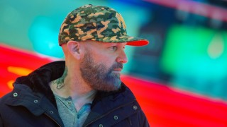 2729811 10/31/2015 Limp Bizkit vocalist Fred Durst before the ceremony to unveil the band's star on the Alley of Glory at Crocus City Hall. Eugene Odinokov/RIA Novosti
