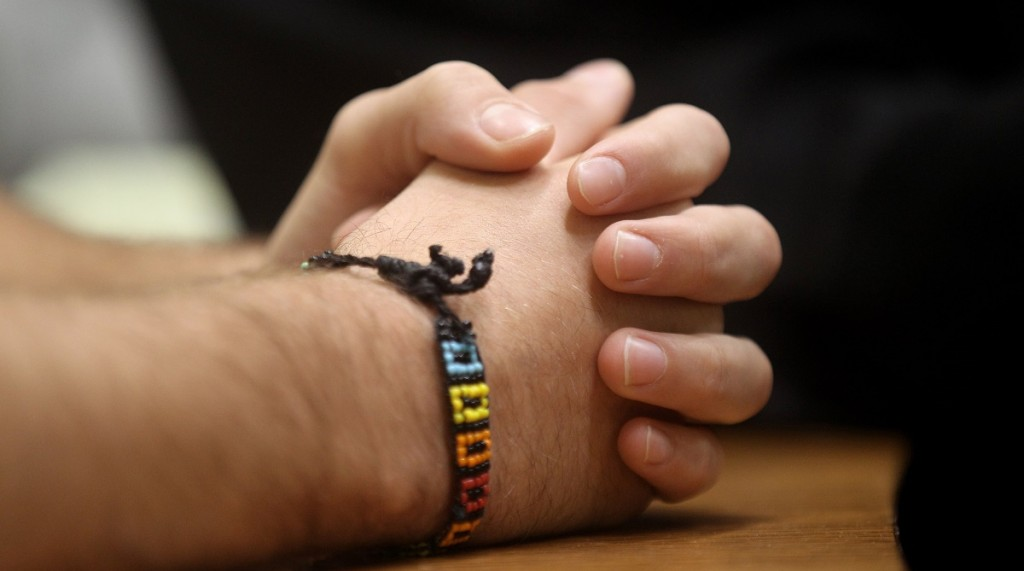MUNICH, GERMANY - JULY 29:  The hands of Sebastian L., one of the two teenagers charged with killing 50 year old Dominik Brunner at the train station in Solln in September 2009, are pictured in a court room on July 29, 2010 in Munich, Germany.  Brunner died after he tried to protect four pupils attacked by the two young men who beat him to death afterwards.  (Photo by Miguel Villagran/Getty Images)