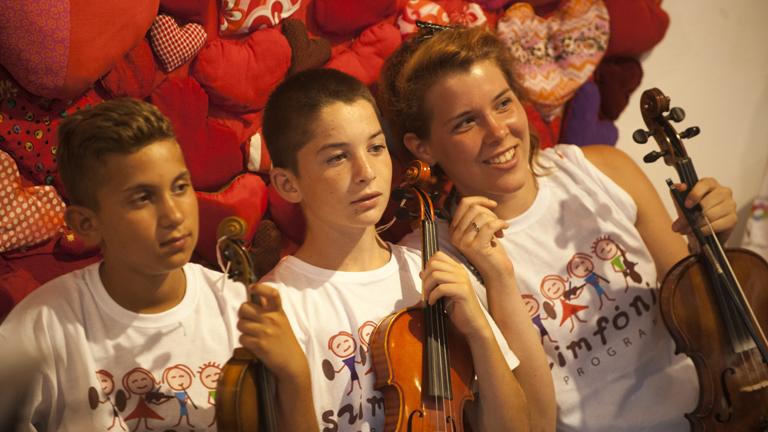 Simphonia Alapítvány koncertje a Magyar Máltai Szeretetszolgálat Szarvas Gábor úti központjában