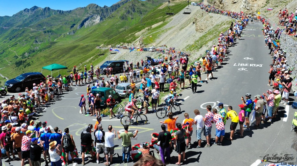 Bagnieres-de-Luchon - France - wielrennen - cycling - radsport - cyclisme - illustration mountains peloton pictured during the 16e etappe - stage 16 (197 km) of the 99th Tour de France 2012  - from  Pau > Bagnieres-de-Luchon - foto LB/RB/Cor Vos ©2012 *** local caption *** 00904645