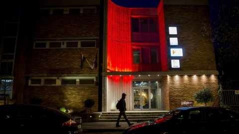 Budapest, 2014. január 17. A TV2 kereskedelmi televízió XIV. kerületi, Róna utcai székháza 2014. január 17-én. MTI Fotó: Mohai Balázs