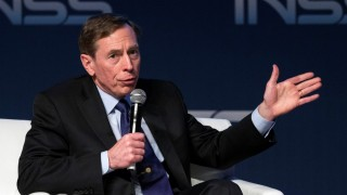 Former CIA director David Petraeus gives a speech at the Institute for National Security Studies during the 7th Annual International Conference at the Tel Aviv Museum of Art on January 28, 2014, in the Mediterranean coastal city of Tel-Aviv. The event runs until January 29. AFP PHOTO / JACK GUEZ / AFP / JACK GUEZ