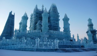 View of ice sculptures during the 32nd Harbin International Ice and Snow Festival in Harbin city, northeast China's Heilongjiang province, 5 January 2016.  In China's coolest annual tradition, Harbin has been transformed once again, for the 32nd time, into a magical winter wonderland for the world-famous International Ice and Snow Festival. The event opened to the public on Tuesday (5 January 2016) and will run until the end of February.