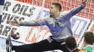 Gdansk, 2016. január 16. Mikler Roland kapus a férfi kézilabda Európa-bajnokság D csoportjában játszott Magyarország - Montenegró mérkõzésen Gdanskban, az Ergo Arénában 2016. január 16-án. MTI Fotó: Kovács Anikó