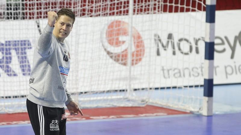 Wroclaw, 2016. január 26. Mikler Roland kapus az olimpiai kvalifikációs férfi kézilabda Európa-bajnokság középdöntõjének 2. csoportjában vívott Spanyolország - Magyarország mérkõzésen a lengyelországi Wroclawban 2016. január 26-án. MTI Fotó: Kovács Anikó