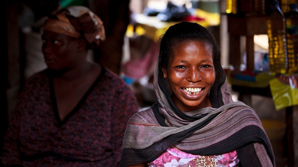 African woman, from Ghana, with face of smile