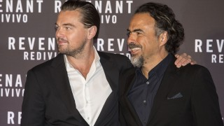 ROME, ITALY - JANUARY 15 :  Leonardo DiCaprio  (L) and director Alejandro Gonzalez Inarritu pose for the photographers as he arrives for the premiere of the movie 'The Revenant' in Rome, Italy, 15 January 2016.  Primo Barol / Anadolu Agency
