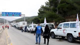 Szíria - Segélyszállítmány
