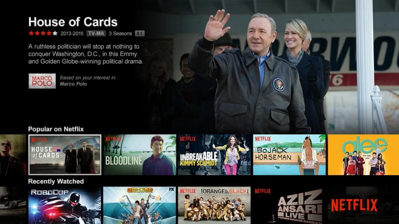 A House of Cards a Netflix kínálatában