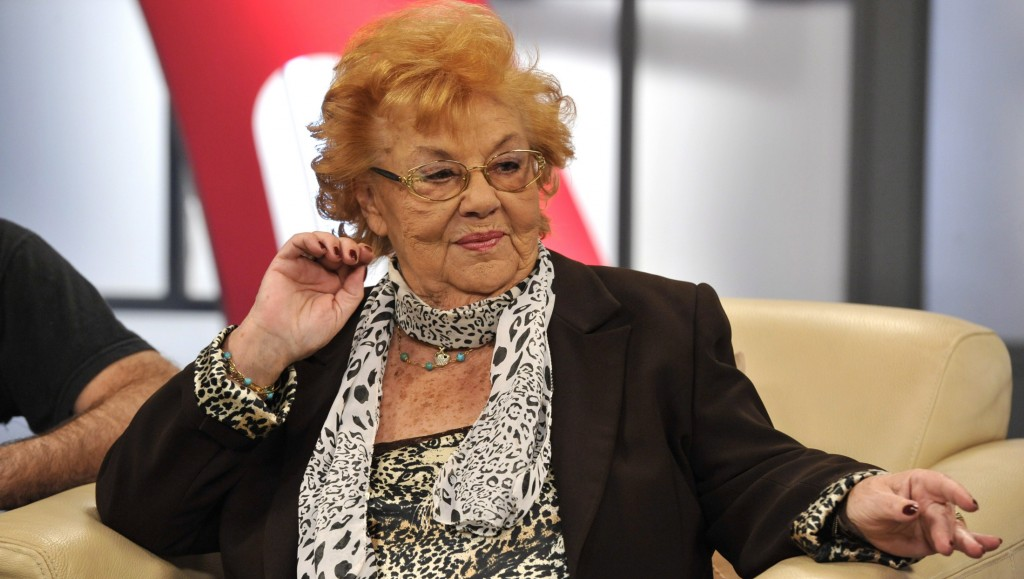 Budapest, 2012. április 18. Lorán Lenke színmûvész a Hogy volt!? címû tv-mûsor felvételén, az MTVA 1-es stúdiójában. MTVA Fotó: Zih Zsolt