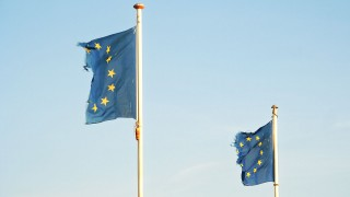 Frayed European Flags