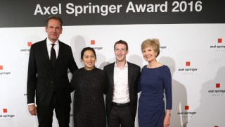 Axel Springer Award 2016 - Zuckerberg kapta a díjat