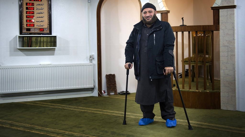 This picture taken on November 14, 2014 shows Oussama el-Saadi, chairman of the mosque at Grimhojvej, outside of Aarhus. Denmark's jihadist rehab: homework, football and Islam Denmark has set up special centres offering rehabilitation for would-be Syria fighters as well as those returning, but some claim the programmes trivialise extremism and want to see more prosecutions. AFP PHOTO / Bjorn Lindgren / AFP / BJORN LINDGREN
