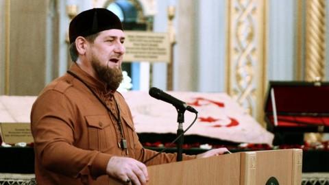 2764524 12/23/2015 Head of the Chechen Republic Ramzan Kadyrov speaks in the central Akhmad Kadyrov Mosque in Grozny on Prophet Muhammad's Birthday. Said Tsarnaev/Sputnik