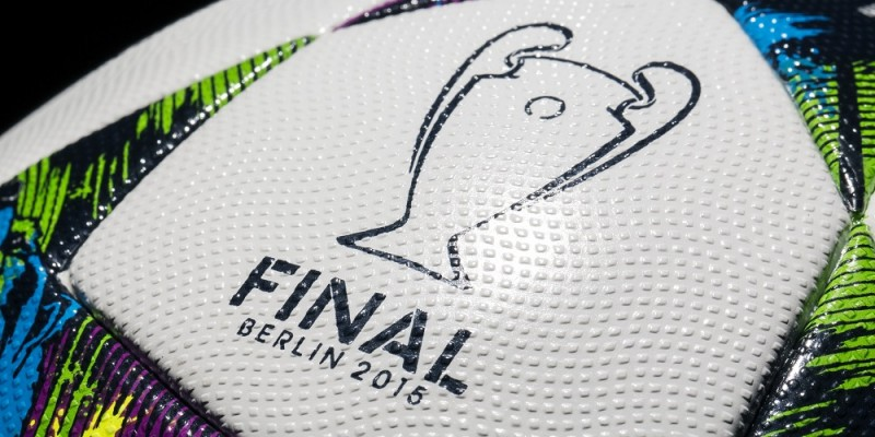 HANDOUT- A handout picture made available on 16 February 2015 by Adidas shows the 'Finale Berlin,' the official ball of the single elimination tournament and finale of the UEFAChampions League. The UEFA Champions League takes place in Berlin on 06 June 2015. Photo:ADIDAS/dpa (ATTENTION:Editorial use only and with mandatory source credit: 'Photo: adidas/dpa')