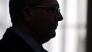Kecskemét, 2015. május 13.Balogh József volt fideszes országgyűlési képviselő, Fülöpháza polgármestere az ellene súlyos testi sértés bűntette miatt indult büntetőper tárgyalásán a Kecskeméti Járásbíróság tárgyalótermében 2015. május 13-án. Balogh József a vád szerint 2013 áprilisában bántalmazta élettársát, akinek ennek következtében orr-, arc- és járomcsontja eltört.MTI Fotó: Ujvári Sándor