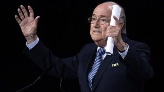 Zürich, 2015. május 29. Joseph Blatter, a Nemzetközi Labdarúgó-szövetség (FIFA) elnöke beszédet mond a FIFA tisztújító kongresszusának második napján, 2015. május 29-én Zürichben. A FIFA ezen a napon választ új elnököt, Joseph Blatter elnök egyetlen kihívója, Ali bin al-Husszein jordániai herceg. (MTI/EPA/Walter Bieri)