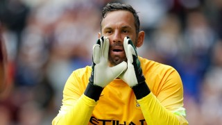 EDINBURGH, SCOTLAND - JULY 18: Richard Wright of Manchester City  during the pre-season friendly at Tynecastle Stadium on July 18, 2014 in Edinburgh, Scotland. (Photo by Richard Sellers/Getty Images)