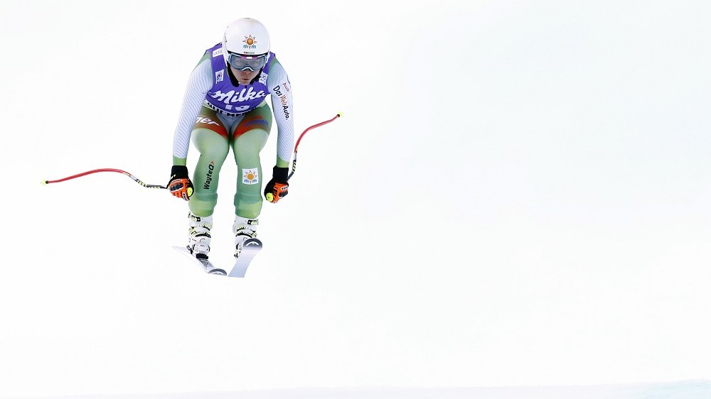 ALTENMARKT-ZAUCHENSEE, AUSTRIA - JANUARY 09: (FRANCE OUT)Edit Miklos of Hungary competes during the Audi FIS Alpine Ski World Cup Women's Downhill on January 09, 2016 in Altenmarkt-Zauchensee, Austria. (Photo by Christophe Pallot/Agence Zoom/Getty Images)