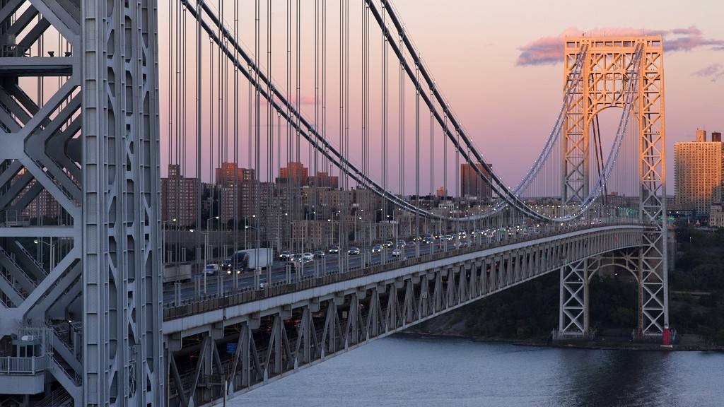 GEORGE WASHINGTON BRIDGE MANHATTAN HUDSON RIVER NEW YORK CITY USA