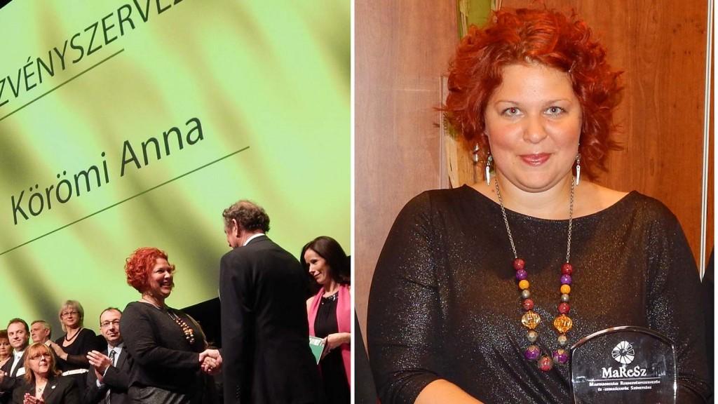 Körömi Anna, az Év Rendezvényszervezője díjazottja