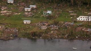 Muamua, 2016. február 22.Az új-zélandi védelmi erők által 2016. február 22-én közreadott légi felvétel a Winston ciklon pusztításáról a Fidzsi-szigeteken fekvő Muamua faluban február 21-én. A trópusi vihar legkevesebb 18 ember halálát okozta, Frank Bainimarama miniszterelnök 30 napra rendkívüli állapotot hirdetett ki. (MTI/AP/Új-zélandi védelmi erők)