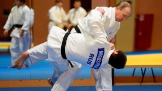 Putyin az orosz cselgáncsválogatottnál