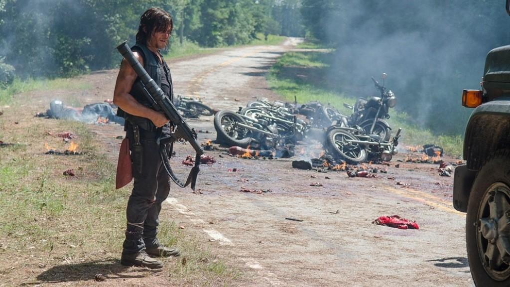 Norman Reedus as Daryl Dixon - The Walking Dead _ Season 6, Episode 9 - Photo Credit: Gene Page/AMC
