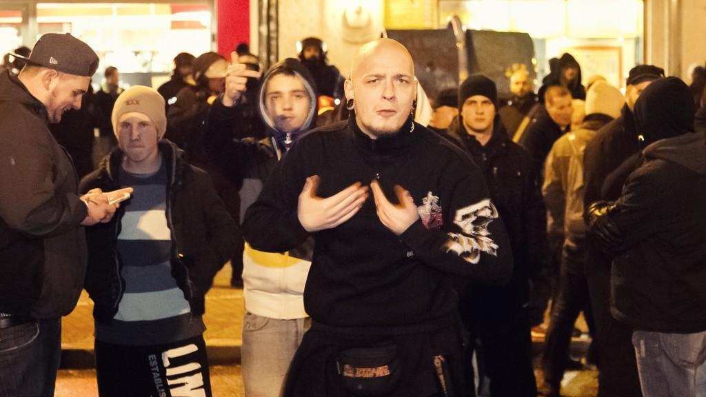 GERMANY, Berlin: German Far-right NPD party members demonstrate in Prenzlauer Berg district, in Berlin, Germany, on February 1, 2016.   - CITIZENSIDE/ROBERT HERHOLD