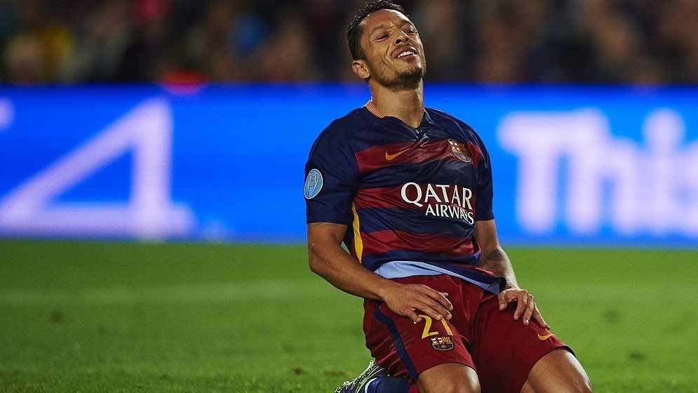 Adriano Correia (FC Barcelona), during the Champions League soccer match between FC Barcelona and Bate Borisov, at the Camp Nou stadium in Barcelona, Spain, wednesday, november 4, 2015. Foto: S.Lau