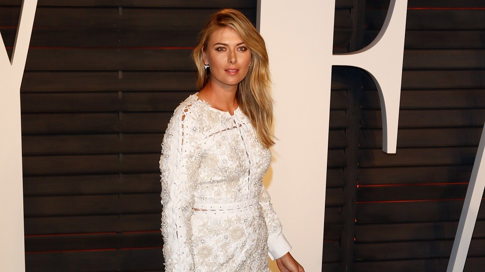 Tennis player Maria Sharapova attends the Vanity Fair Oscar Party at Wallis Annenberg Center for the Performing Arts in Beverly Hills, Los Angeles, USA, 28 February 2016. Photo: Hubert Boesl/dpa