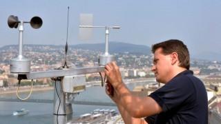 Augusztus 20. - Szélmérő berendezést telepítettek egy fővárosi szálloda tetejére