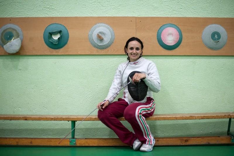 Budapest, 2012. május 31. Mohamed Aida, a londoni olimpiára kvótát szerzett tõrvívó felkészülésén a Törekvés SE sportcsarnokában. MTI Fotó: Kollányi Péter