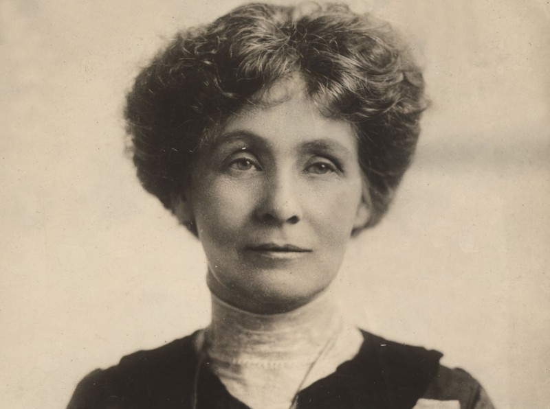 Emmeline PANKHURST (1859-1928), English suffragist Her 40 year campaign achieved success in the year of her death. Photograph c. 1906. She founded the Women's Social and Political Union in 1903 in Manchester.   Photo Credit: [ The Art Archive / Culver Pictures ]