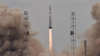 A Russian Proton-M rocket carrying the ExoMars 2016 spacecraft blasts off from the launch pad at the Russian-leased Baikonur cosmodrome on March 14, 2016. AFP PHOTO / KIRILL KUDRYAVTSEV / AFP / KIRILL KUDRYAVTSEV