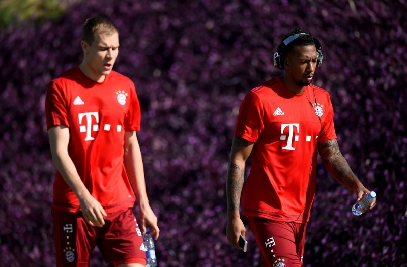 during a training session at day six of the Bayern Muenchen training camp at Aspire Academ on January 11, 2016 in Doha, Qatar.