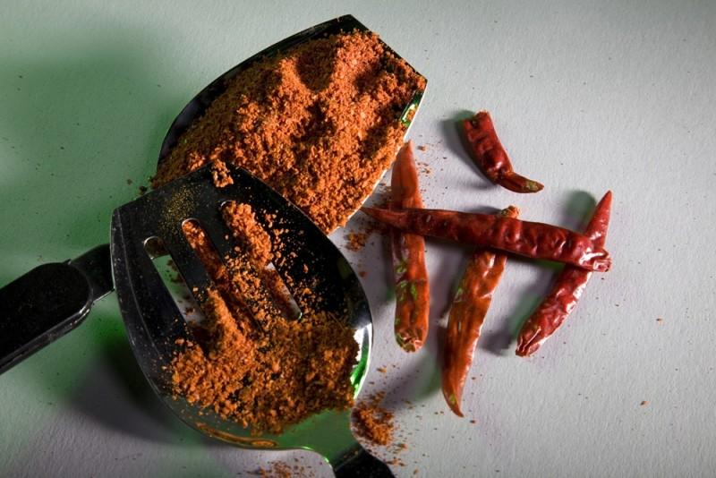 Chili powder with red chilli