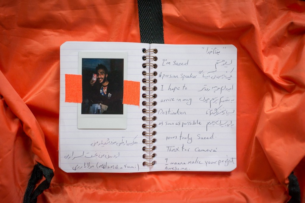 Saeed received his camera on Dec 12, 2015 in a bus from Athens to Idomeni. Saeed comes from Iran. He left Iran, because he converted to Christianity and was in the risk of being killed/ arrested for this. To cross the boarders from Macedonia to Germany, he registered himself in Lesbos as a Afghan (Iranians have been rejected to cross the Balkans since November 17, 2015). In Germany he made his case clear and lives as a Iranian now. Today he lives in Hanau, Germany.