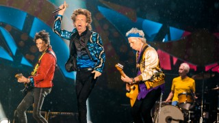 Rolling Stones performs live on stage at Morumbi Stadium on February 24, 2016 in Sao Paulo, Brazil.  *** Local Caption *** Ron Wood ; Mick Jagger ; Keith Richards ; Charlie Watts