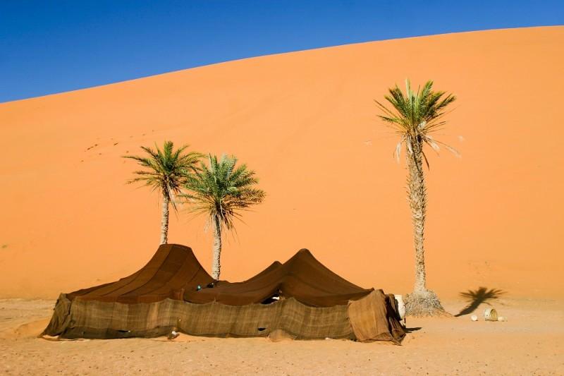 Berber camp in the Sahara desert, Morocco