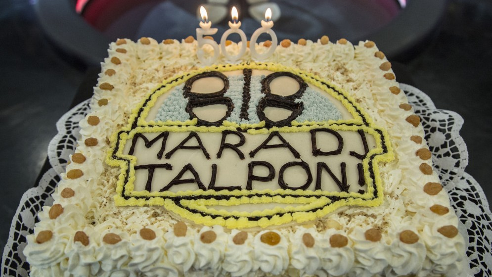A Maradj talpon! 500. adását tortával ünneplik - Fotó: Bara_Szilvia Fotó: Bara_Szilvia