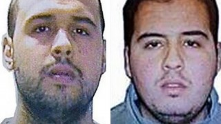 """(COMBO) This combination of handout pictures obtained by AFP on March 23, 2016 shows Khalid (L) and Ibrahim (R) El Bakraoui, the two Belgian brothers identified as the suicide bombers who struck Brussels on March 22, 2016, as a manhunt for a third assailant in Belgium's bloodiest terror assault gained pace.  Two suicide blasts hit Brussels' Zaventem airport on March 22, 2016 morning followed soon after by a third on a train at Maalbeek station, close to the European Union's institutions, just as rush-hour commuters were heading to work. The triple blasts that killed some 30 people and left around 250 injured was claimed by the Islamic State jihadist group. / AFP PHOTO / OFF / - / RESTRICTED TO EDITORIAL USE - MANDATORY CREDIT """"AFP PHOTO / OFF"""" NO MARKETING NO ADVERTISING CAMPAIGNS - DISTRIBUTED AS A SERVICE TO CLIENTS"""