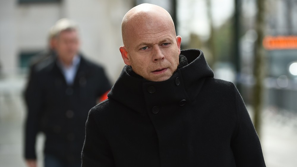 """Belgian lawyer Sven Mary, who is representing Salah Abdeslam, the sole surviving suspect in the November 13 Paris attacks, leaves the council chamber in Brussels on April 7, 2016. Extraditing Paris terror suspect Salah Abdeslam from Belgium to France is likely to take """"several weeks,"""" as investigators question him about a shootout with police in Brussels last month, his lawyer Sven Mary said on April 7.  / AFP PHOTO / JOHN THYS"""