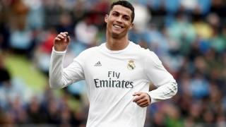MADRID, SPAIN - APRIL 16 : Cristiano Ronaldo of Real Madrid celebrates scoring a goal during the Spanish La Liga match between Real Madrid and Getafe at Coliseum Alfonso Perez stadium in Madrid, Spain on April 16, 2016.  Burak Akbulut / Anadolu Agency