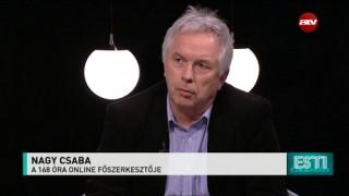 Nagy Csaba leköszönő online főszerkesztő az ATV vendégeként